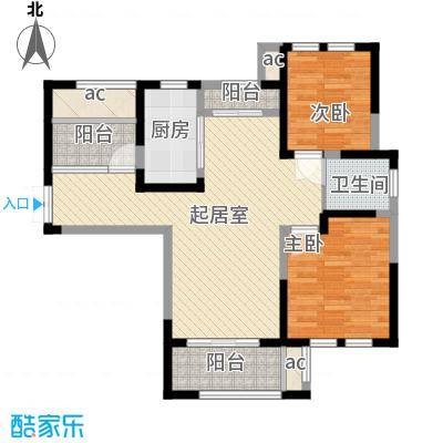 中大诺卡小镇94.00㎡中大诺卡小镇户型图B1户型2室2厅1卫户型2室2厅1卫