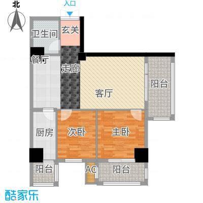 翠庭大厦85.00㎡翠庭大厦户型图32室2厅1卫1厨户型2室2厅1卫1厨