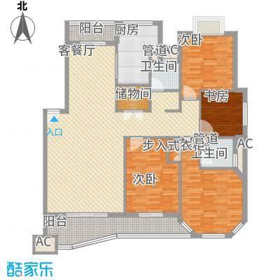 水墨兰庭139.29㎡水墨兰庭户型图D1型4室2厅2卫1厨户型4室2厅2卫1厨