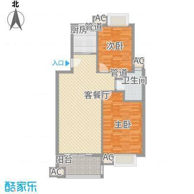 水墨兰庭84.89㎡水墨兰庭户型图C型3室户型3室