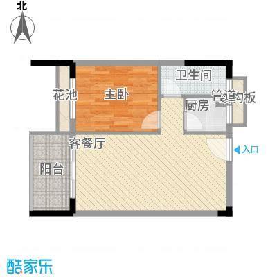 景荣花园55.00㎡景荣花园1室户型1室