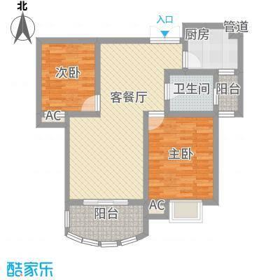 奥林匹克花园87.00㎡高层户型2室2厅1卫