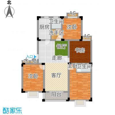 泾和苑120.00㎡泾和苑户型图多层B1户型4室2厅2卫1厨户型4室2厅2卫1厨