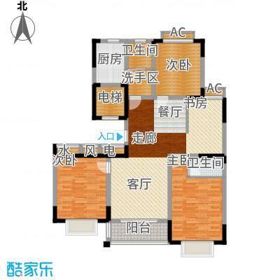 泾和苑120.00㎡泾和苑户型图多层B2户型4室2厅2卫1厨户型4室2厅2卫1厨