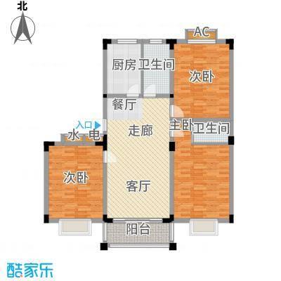 泾和苑120.00㎡泾和苑户型图多层C1户型3室2厅2卫1厨户型3室2厅2卫1厨