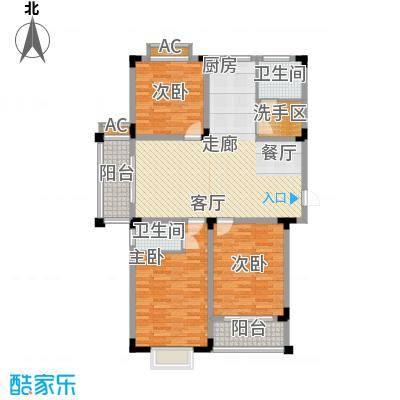 泾和苑120.00㎡泾和苑户型图多层A2户型3室2厅2卫1厨户型3室2厅2卫1厨