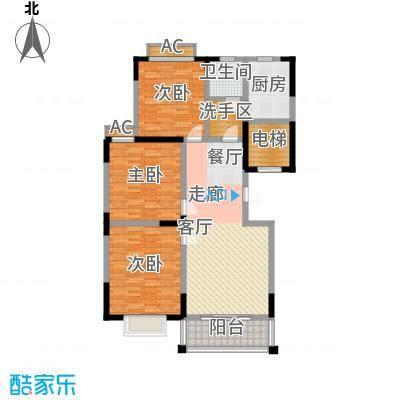 泾和苑120.00㎡泾和苑户型图多层D户型3室2厅1卫1厨户型3室2厅1卫1厨