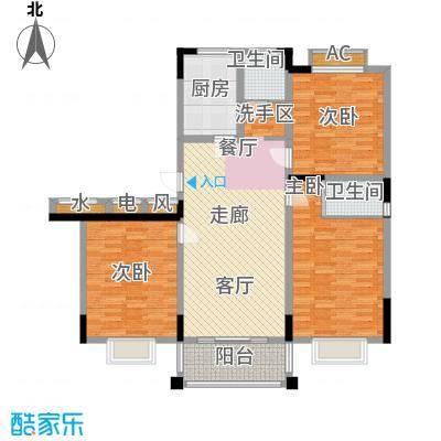 泾和苑120.00㎡泾和苑户型图多层E户型3室2厅2卫1厨户型3室2厅2卫1厨