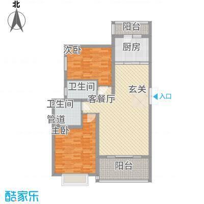 天瑶花园105.00㎡天瑶花园3室户型3室