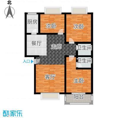 灞柳康馨花园118.18㎡户型E户型2室2厅2卫1厨