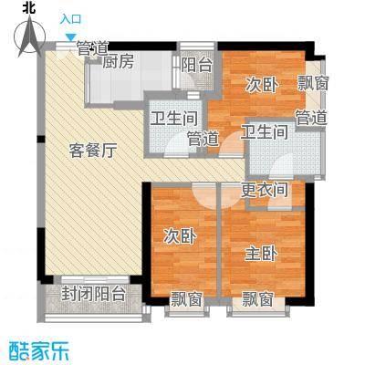 富力国际公馆88.00㎡富力国际公馆3室户型3室