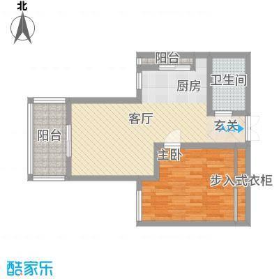 双河二村48.00㎡1室户型1室1厅1卫1厨