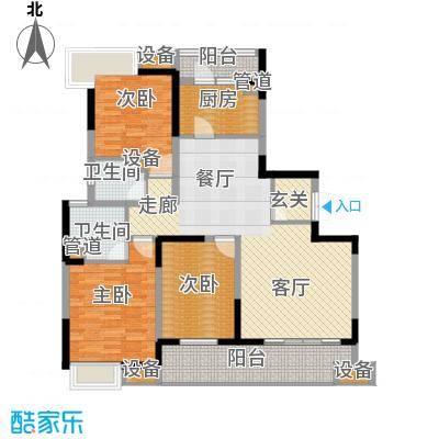 佳兆业御峰140.00㎡佳兆业御峰户型图C1户型3室2厅2卫1厨户型3室2厅2卫1厨