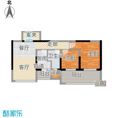 佳兆业御峰90.00㎡佳兆业御峰户型图A2户型2室2厅1卫1厨户型2室2厅1卫1厨