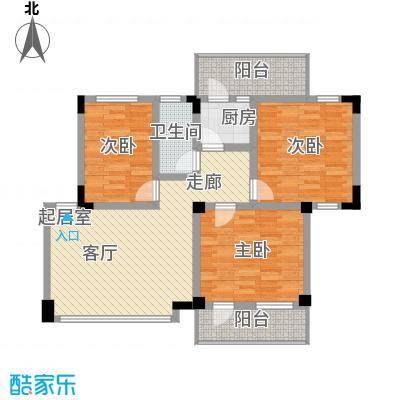 华工紫荆苑96.00㎡3室1厅户型3室1厅1卫1厨