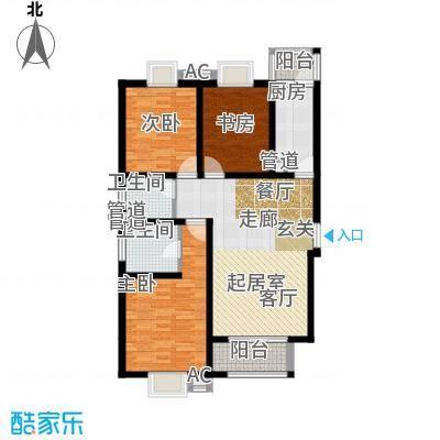 曲江圣卡纳122.00㎡A1/C1户型3室2厅2卫1厨