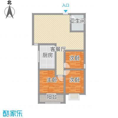 朱雀MEN123.79㎡A户型3室2厅1卫1厨