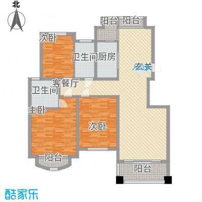 新城花园162.00㎡新城花园5室户型5室