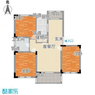 加州洋房114.86㎡B1底层户型3室2厅1卫