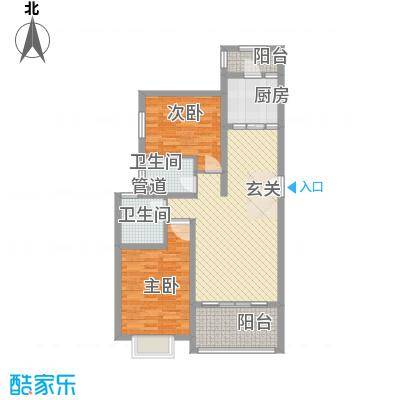 汪塘东村58.00㎡汪塘东村2室户型2室