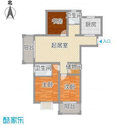 御珑湾117.00㎡G3户型和乐居户型3室2厅2卫1厨