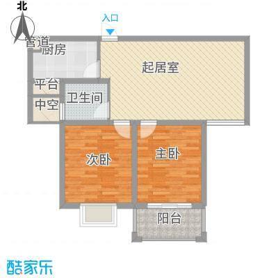 御珑湾88.34㎡G1户型悦香园户型2室2厅1卫1厨