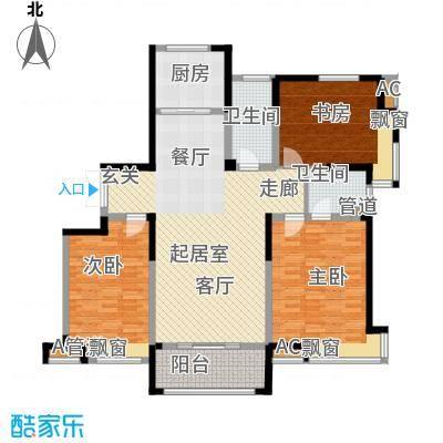水畔兰庭160.00㎡水畔兰庭户型图H户型-160㎡3室2厅2卫1厨户型3室2厅2卫1厨