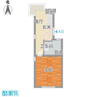 山水路8号54.00㎡山水路8号户型图现代摩登A-1户型1室1厅1卫户型1室1厅1卫