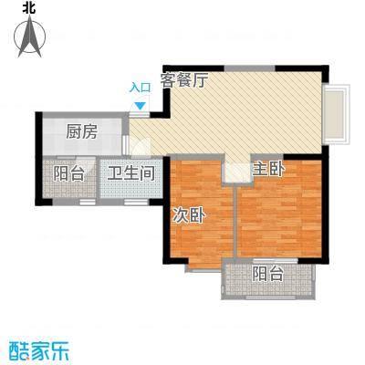 金都花园89.00㎡高层户型三户型2室2厅1卫