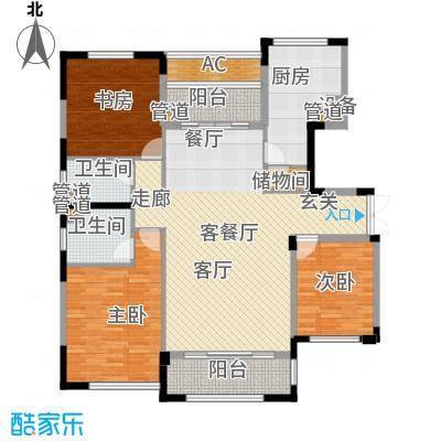 太湖锦园134.00㎡太湖锦园户型图宽景公寓B1户型3室2厅2卫户型3室2厅2卫