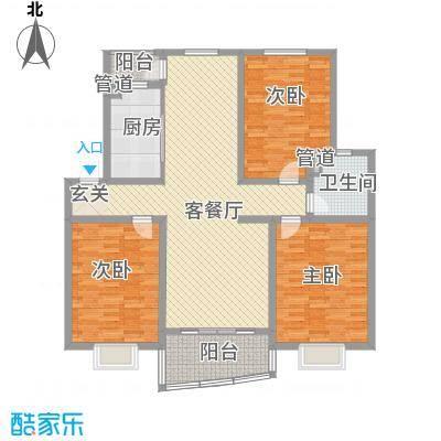大地家园167.00㎡大地家园3室户型3室