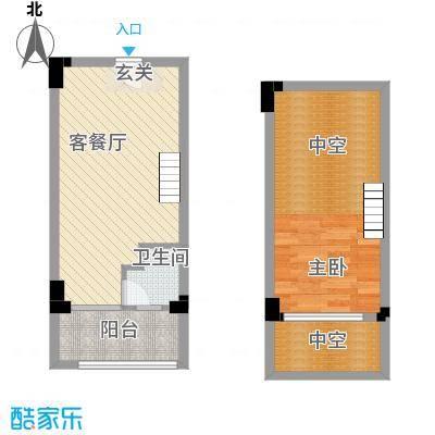 领会53.83㎡A公寓户型1室1厅1卫1厨