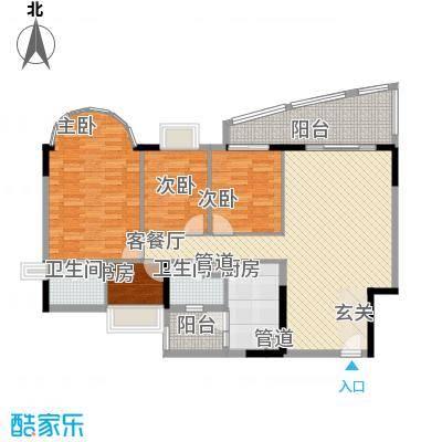 逸景翠园御景轩4室2厅户型4室2厅2卫1厨