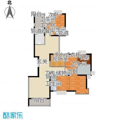 丽江花园丽波楼6室3厅户型6室3厅5卫1厨