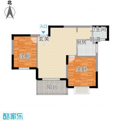 兴东小区104.00㎡2室户型2室2厅2卫1厨