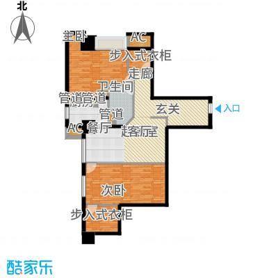 世家名门112.26㎡世家名门户型图精装SOHO公寓雀巢E3户型2室2厅1卫户型2室2厅1卫