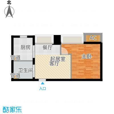 世家名门49.19㎡世家名门户型图精装SOHO公寓雀巢E4户型1室1厅1卫户型1室1厅1卫