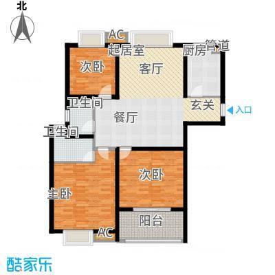 东方天郡118.00㎡东方天郡户型图118平户型3室2厅1卫户型3室2厅1卫