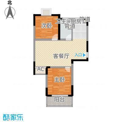 金润华庭90.19㎡金润华庭户型图K12室2厅1卫户型2室2厅1卫
