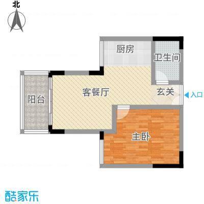 刘潭二村 1室 户型图