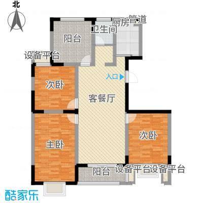 华夏世纪锦园户型图CB2户型 4室2厅2卫1厨