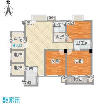 长春都市豪庭170.00㎡长春都市豪庭3室户型3室