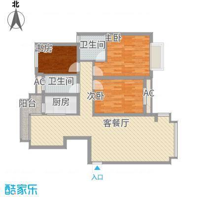 天奇盛世豪庭123.00㎡天奇盛世豪庭3室户型3室
