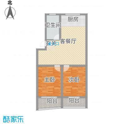 锦盛花园101.99㎡G户型2室2厅1卫1厨