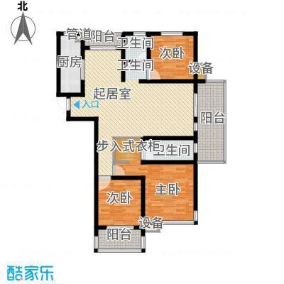 百大春城137.00㎡优HOUSE户型3室2厅2卫