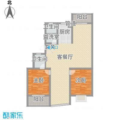 锦盛花园138.54㎡F户型4室2厅2卫1厨
