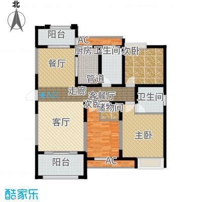 百乐广场135.44㎡城市官邸G2户型3室2厅2卫1厨