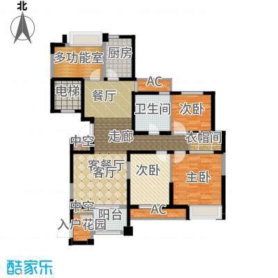 百乐广场133.91㎡G4户型3室2厅1卫面积133.91平方米户型3室2厅1卫1厨