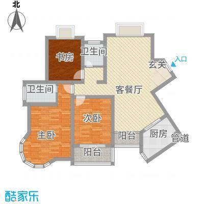 新港国际123.00㎡新港国际户型图H3室2厅2卫户型3室2厅2卫