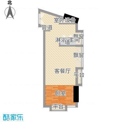 番禺万达广场56.00㎡SOHO公寓e户型10室